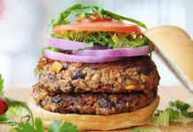 Quinoa veggie burger to eat