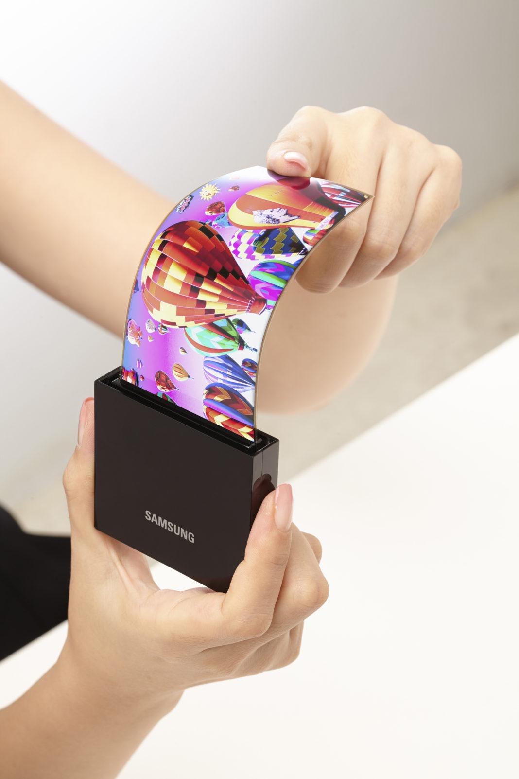 samsung samrtphone bended display