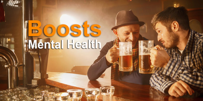 beer for boosts mental health