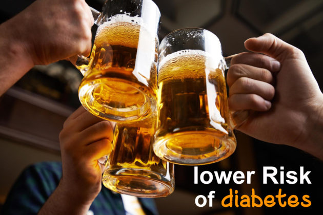 beer for lower risk of diabetes