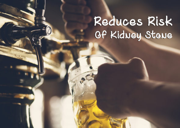 beer for reduces risk of kidney stone