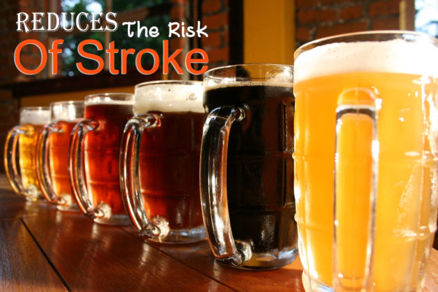 beer for rduces the risk of stroke