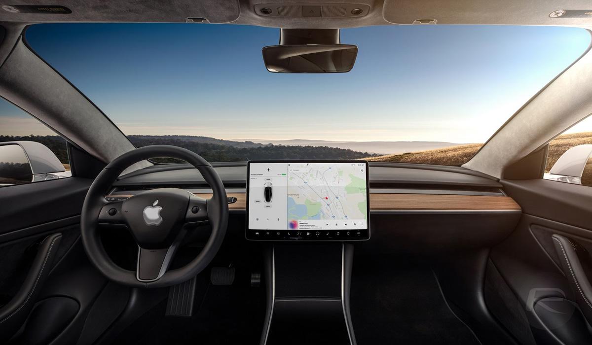 virtual apple car interior