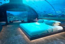 bedroom of the conrad maldives rangali