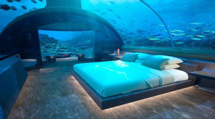 bedroom of the conrad maldives rangali